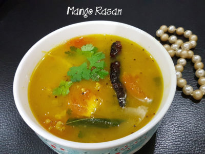 Mangai Rasam || Mango Rasam || How to make Mamiḍi Charu