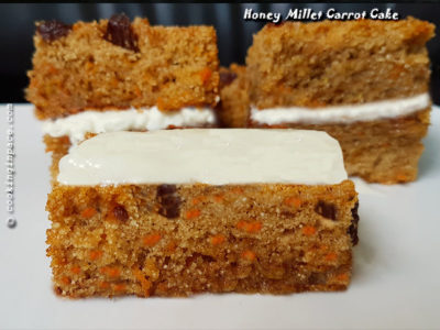Honey Millet Carrot Cake || Healthy Gluten free Cake